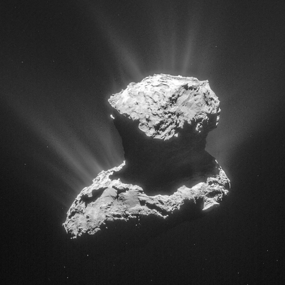 Comet 67P/Churyumov-Gerasimenko. Making an Impact: Meteoroids, Meteors and Meteorites. Also in blog post Asteroid vs Comet.
