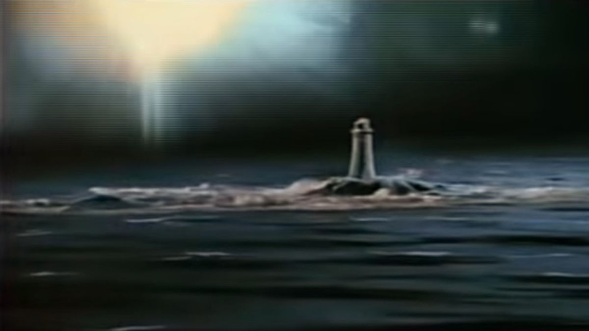 Fireball meteor over a lighthouse in The Day of the Triffids (1961)