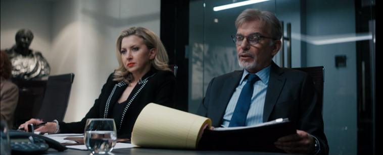 Billy McBride and Patty in depositions. Goliath Season 3: The Weird and the Wonderful.