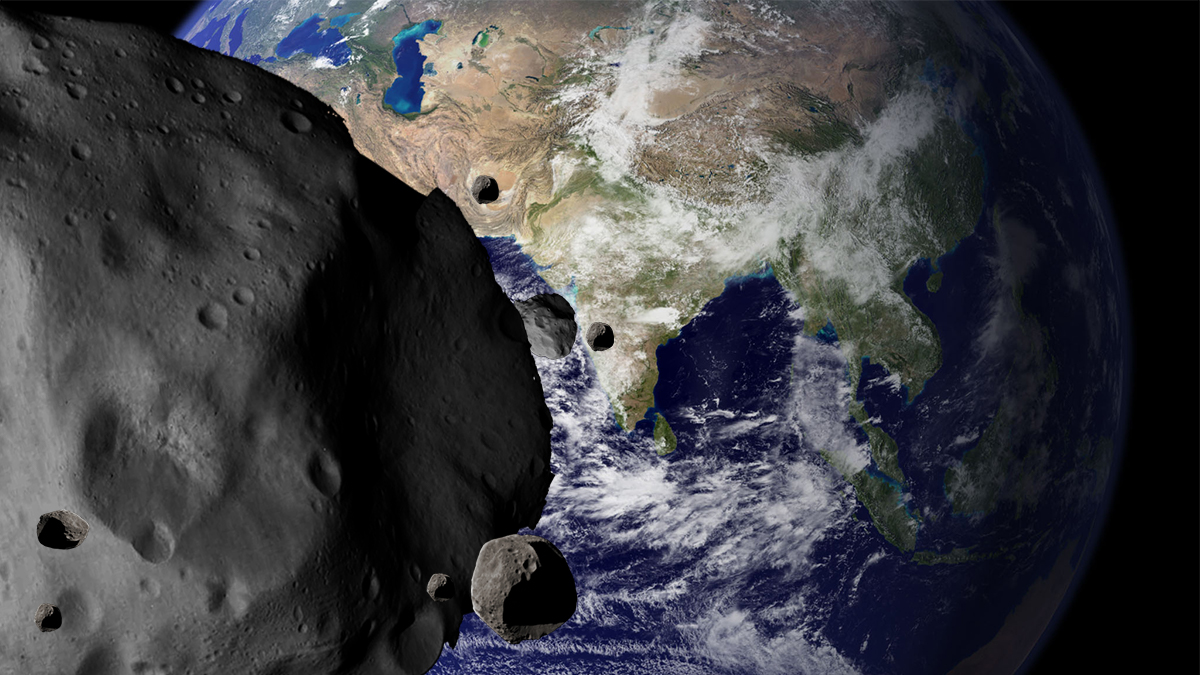 Earth-threatening asteroid