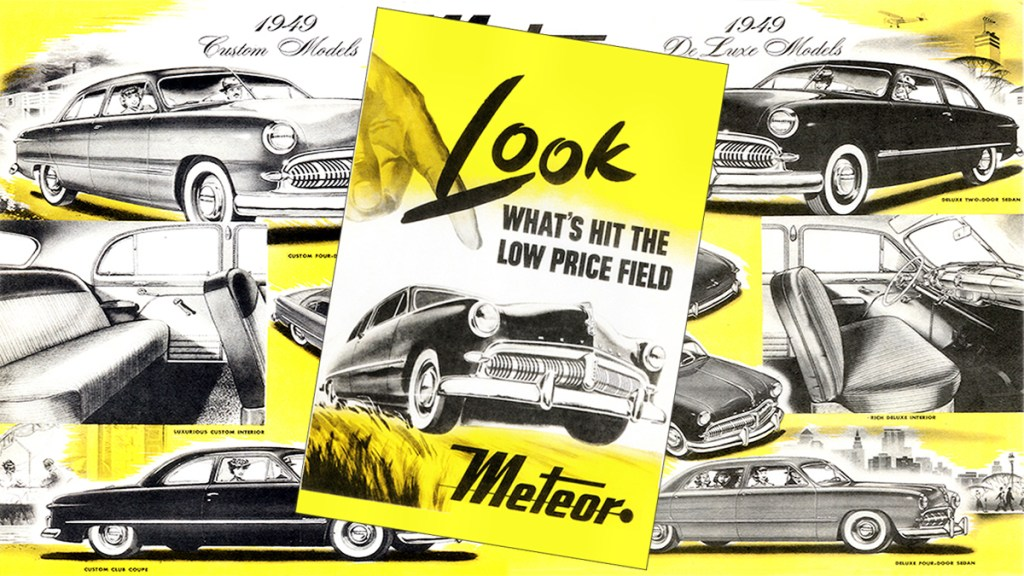 The 1949 Ford Meteor (later Mercury Meteor). In blog post Scent from Heaven - an essay on the smell of meteorites, scent of meteors, and aroma of comets.