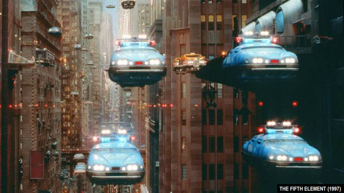 The Fifth Element (1997) featuring flying cars and Cheb Khaled