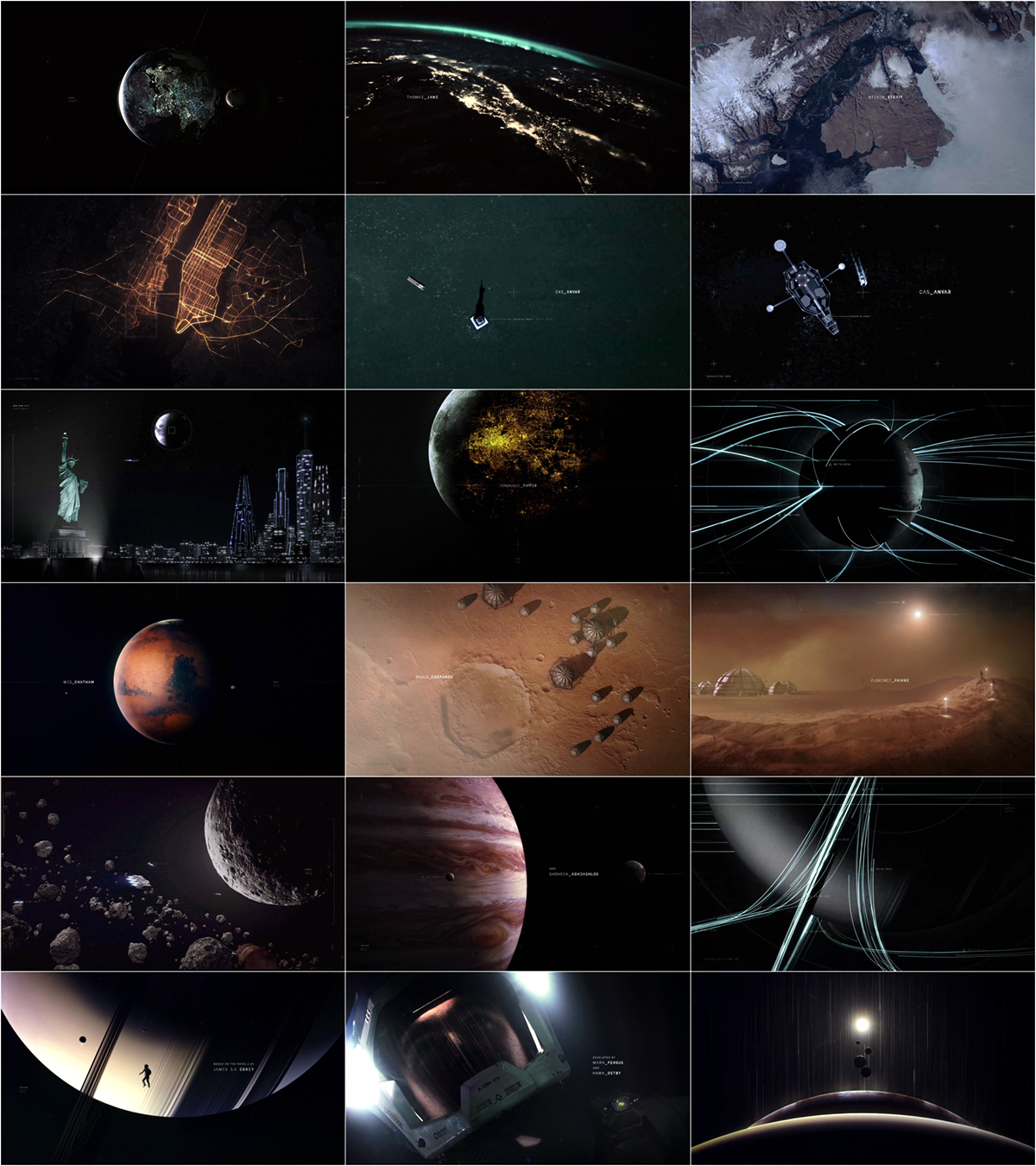The Expanse title sequence S1x01 S1x09 S1x10 - don't skip intro