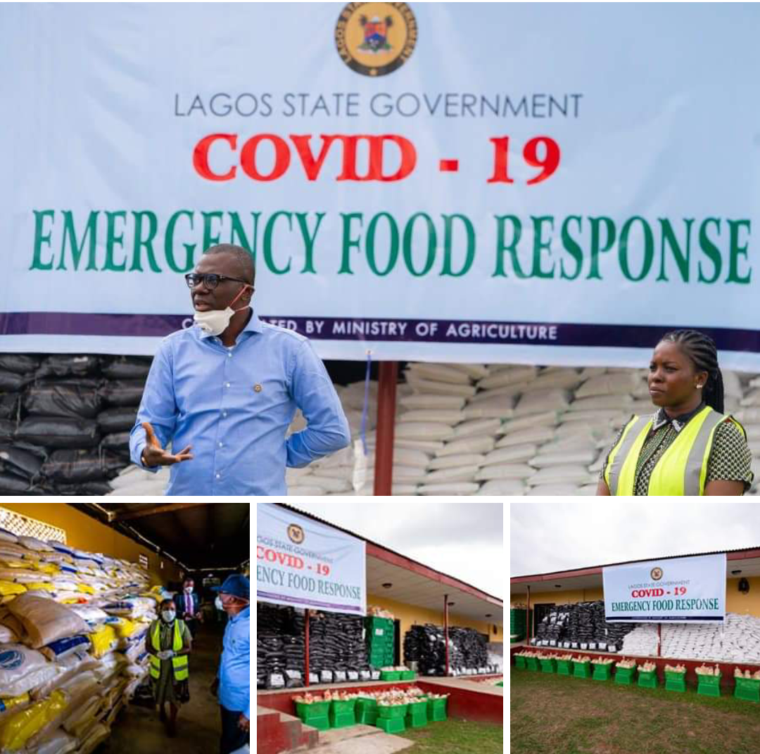 COVID- 19: Lagos commences distribution of food items to residents.