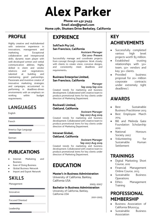 resume17_minimalist_black_white