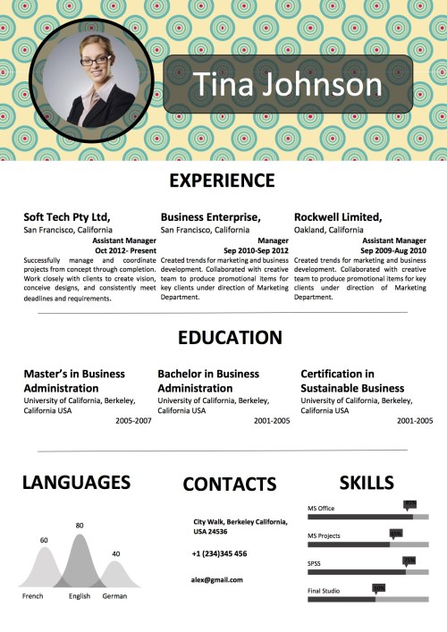 background_resume_word_template