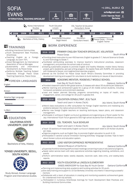 simple_timeline_resume_template