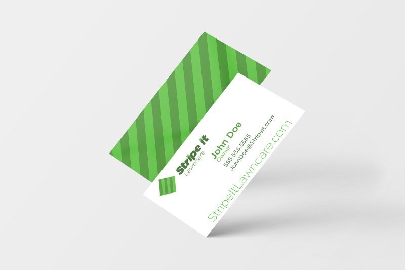 Lawn Care Business Card Mock up