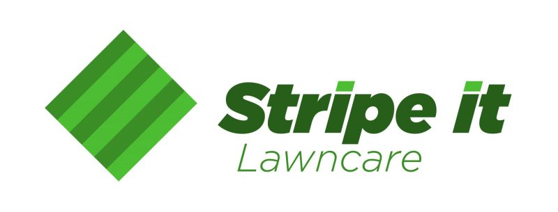 Stripe It Lawn care Logo