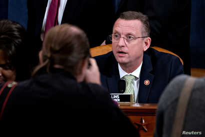 Representative Doug Collins, a Republican from Georgia and ranking member of the House Judiciary Committee, sits after…