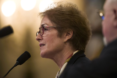 Former U.S. Ambassador to Ukraine Marie Yovanovitch testifies before the House Intelligence Committee on Capitol Hill in…