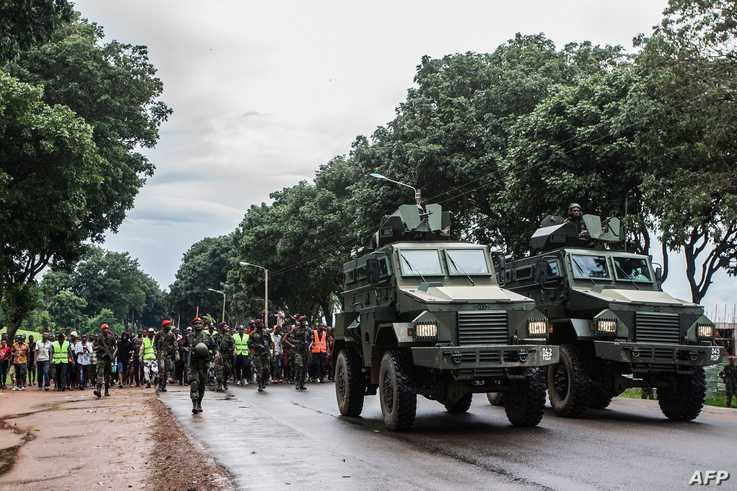 Malawi Defence Force control protesters in Lilongwe on January 16, 2020, during a protests at alleged attempts to bribe judges…