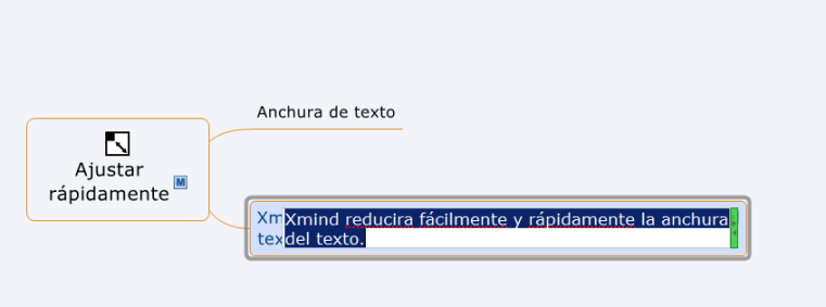 anchura texte xmind