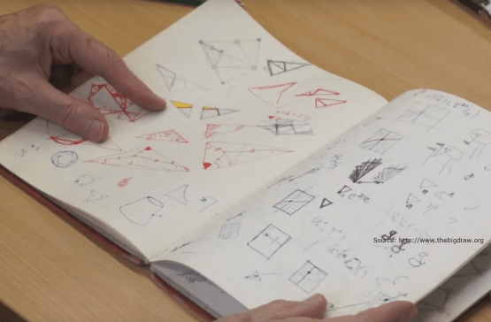 Roger Penrose Drawing for Maths and Science