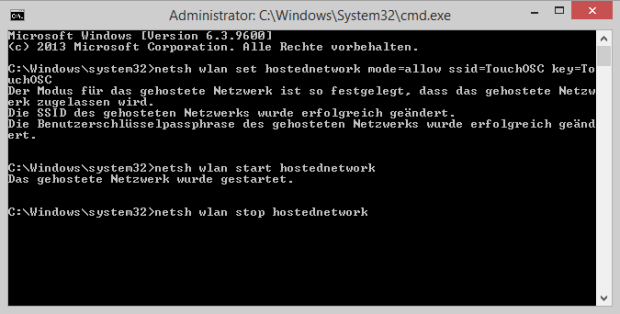 cmd-hostednetwork
