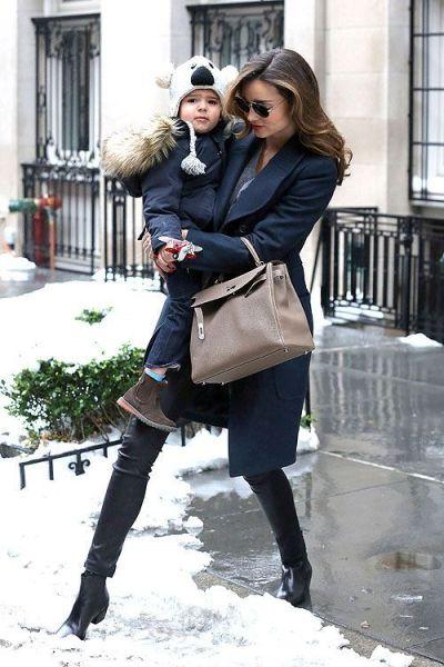 Miranda Kerr with son street style
