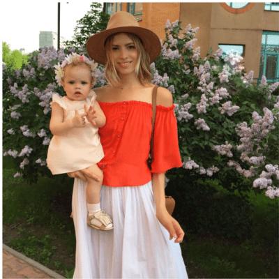 Lena Perminova Mom Style