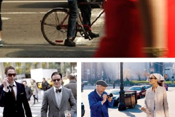 Bill Cunningham at work. Bottom left: Joe Lupo and Tim Rogers by Cunningham