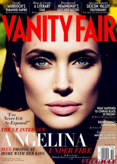 Angelina Jolie on the cover of Vanity Fair, September 2011