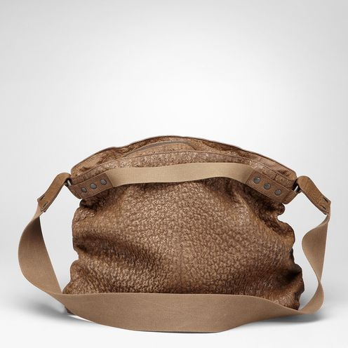 Bottega Veneta Junior Washed Antique Ostrich Cross Body Bag on bottegaveneta.com