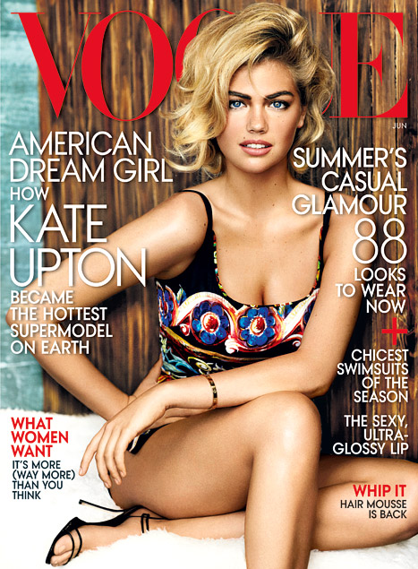 Kate Upton on US Vogue June 2013 Cover