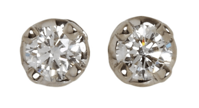 3. Hoorsenbuhs For Forevermark Diamond & White Gold Stud Earrings