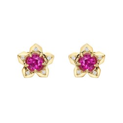 "1. Paolo Costagli ""Brillante"" Ruby & Diamond Stud Earrings"
