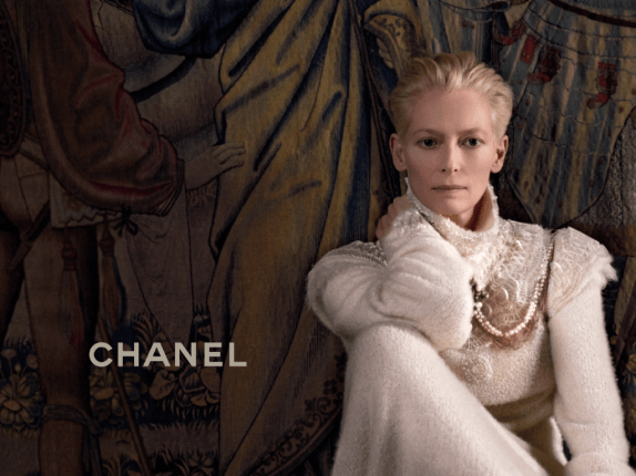 Tilda Swinton for Chanel by Karl Lagerfeld