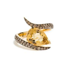 Shaun Leane 18K Yellow Gold Quartz Ring