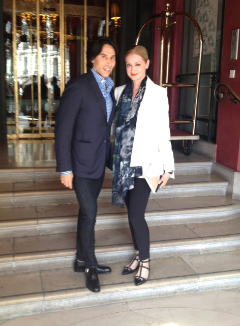 Jesse and LM heading to a Van Cleef & Arpels Appointment in Paris