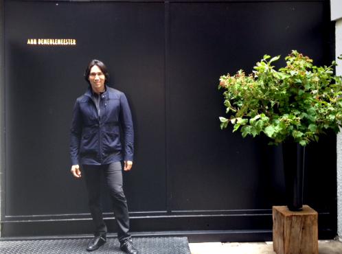 Jesse at Ann D showroom in Paris