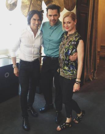 Jesse and Lisa Marie with Roland Mouret