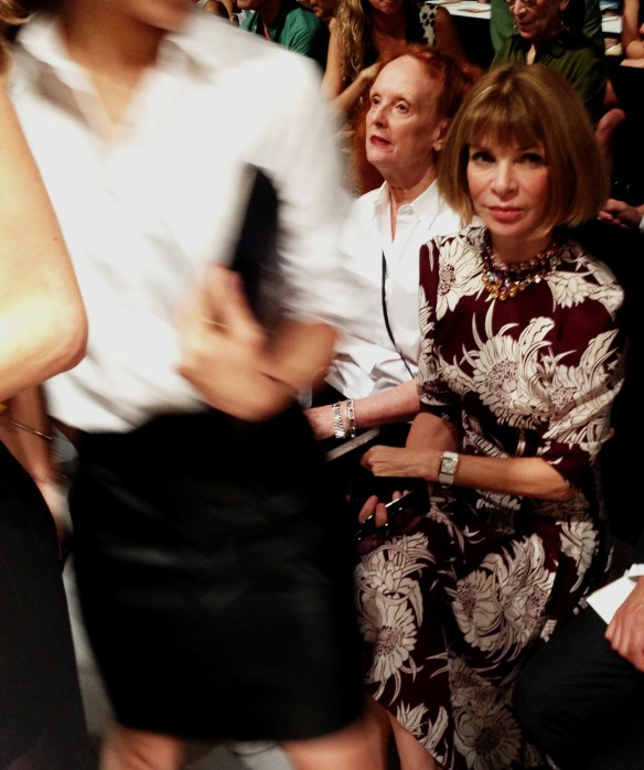 Anna Wintour & Grace Coddington at Michael Kors Spring 2014 show