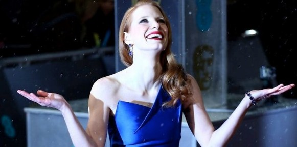 Jessica Chastain in Roland Mouret