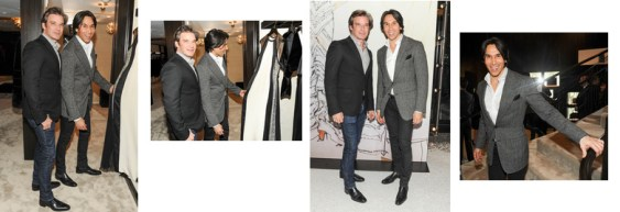 Joe and Jesse at J. Mendel boutique opening