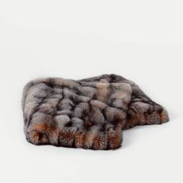 9. Area ID Fox Throw, Crystal, Full Skins, Backed with Cashmere/Wool