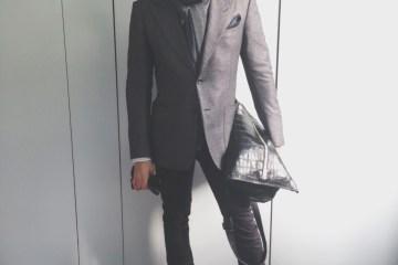 Jesse Garza in Tom Ford cashmere blazer
