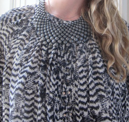 Isabel Marant For H&M Blouse, Gunmetal Bib Necklace From TJ Maxx