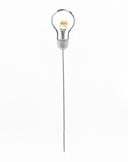 1. M De PhocasLightbulb Pin With Rose Gold Detail