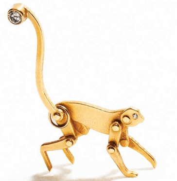 2. Marc Alary Gold Monkey Pendant