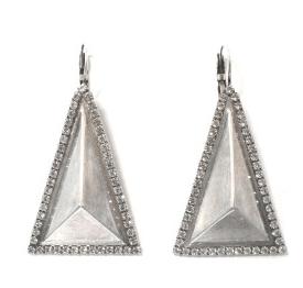 3. Janis by Janis Savitt Triangle Earrings
