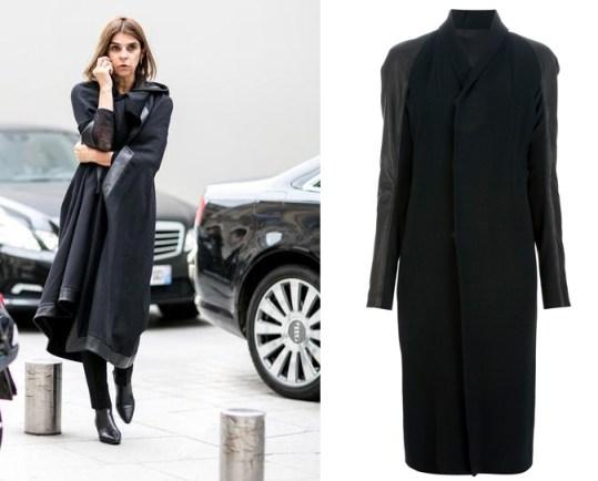 Carine Roitfeld Street Style Coat 2014 copy
