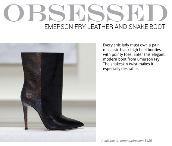 Obsessed-Emerson-Fry Leather And Snake Ankle Boot