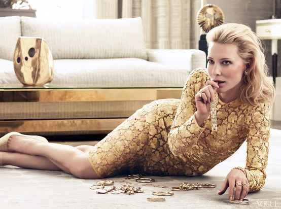 Cate Blanchett Vogue US January 2014 | Photo by Craig McDean