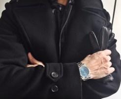 Simon Spur Coat, Hermes Gloves, Rolex Watch