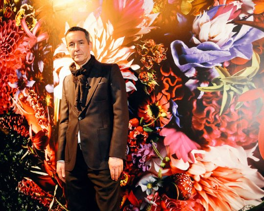 "Dries Van Noten at his exhibition, ""Inspirations"" 