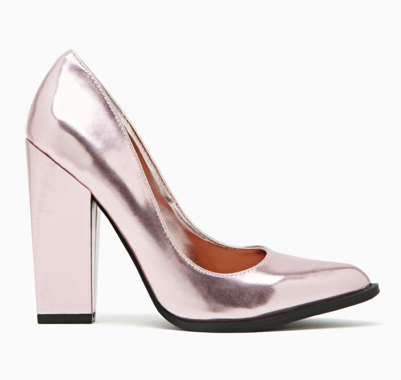 Shoe Cult Edge Pump - Pink Metallic