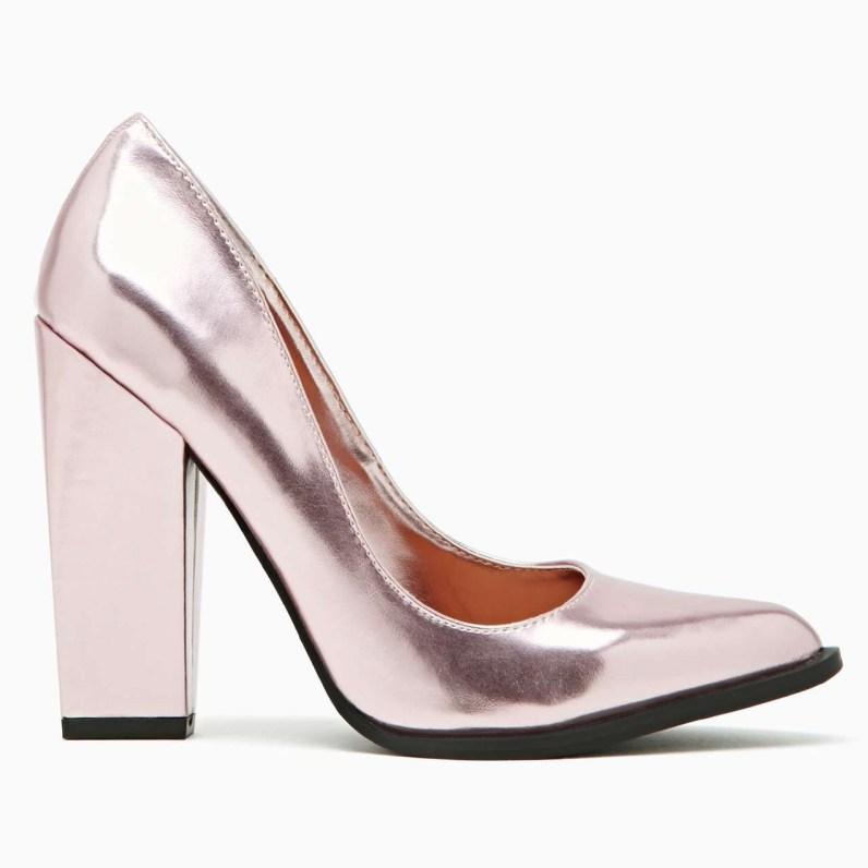 Shoe Cult Edge Pump - Pink Metallic