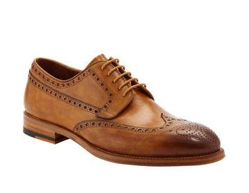 Magnanni Burnished Wing-Tip Lace-Up