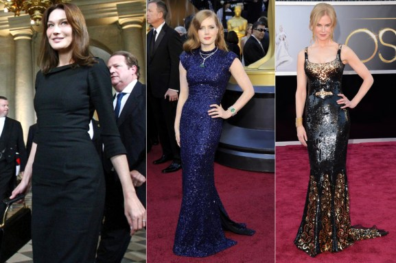Carla Bruni-Sarkozy, Amy Adams and Nicole Kidman in L'Wren Scott